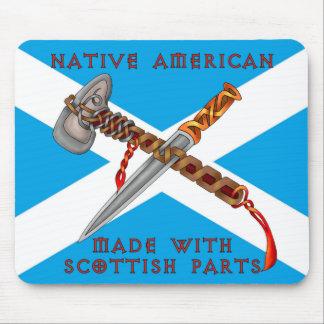 Nativo americano/escocés tapete de ratón