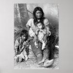 Nativo americano Family, 1916 Impresiones