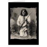 Nativo americano Geronimo Apache del vintage Tarjeta De Felicitación