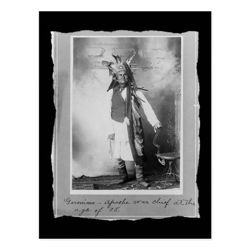 Nativo americano Geronimo Apache del vintage Postal
