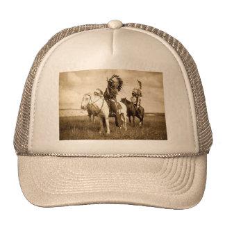 Nativo americano gorros bordados