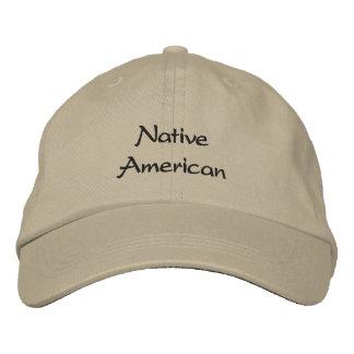 Nativo americano gorra de beisbol