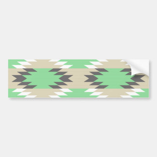 Nativo americano gris verde tribal azteca de los A Pegatina De Parachoque