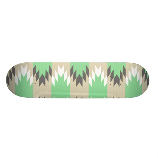 Nativo americano gris verde tribal azteca de los A Monopatines Personalizados