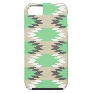 Nativo americano gris verde tribal azteca de los iPhone 5 carcasa