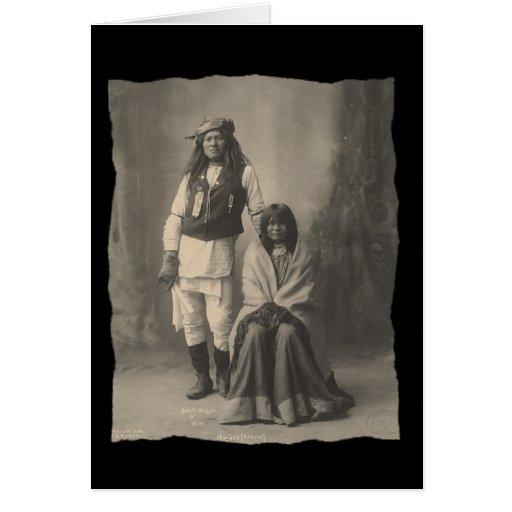 Nativo americano Henry Wilson del vintage y esposa Tarjeta De Felicitación