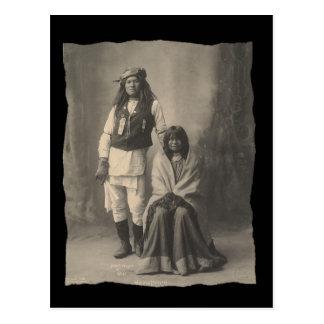 Nativo americano Henry Wilson del vintage y esposa