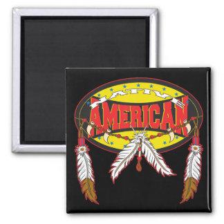 Nativo americano iman de frigorífico