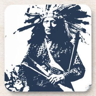 Nativo americano indio poco 1890 posavasos