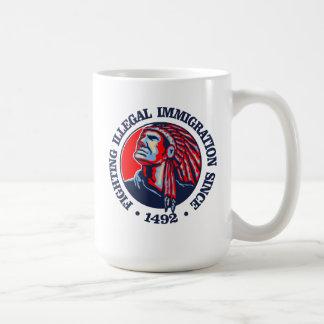 Nativo americano (inmigración ilegal) taza de café