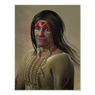 Nativo americano invitación 10,8 x 13,9 cm