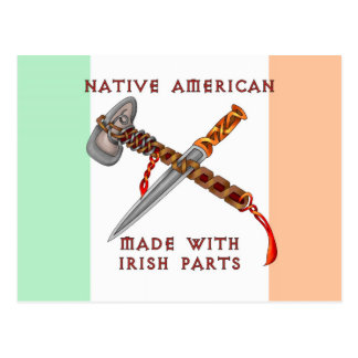 Nativo americano/irlandés tarjetas postales