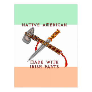 Nativo americano/irlandés postales