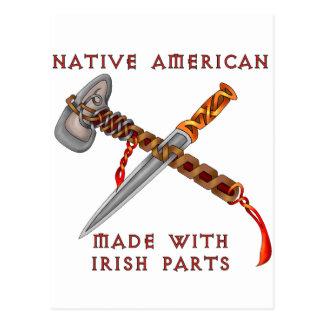 Nativo americano/irlandés tarjeta postal