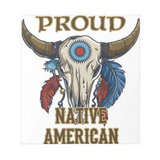 Nativo americano orgulloso blocs