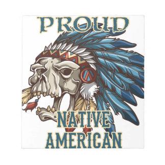 Nativo americano orgulloso bloc de notas