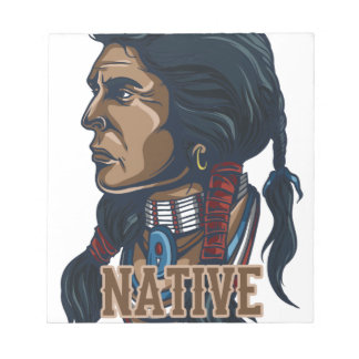 Nativo americano orgulloso blocs de notas