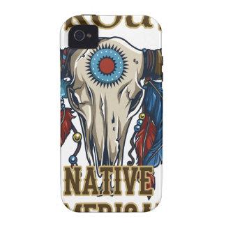 Nativo americano orgulloso Case-Mate iPhone 4 carcasas