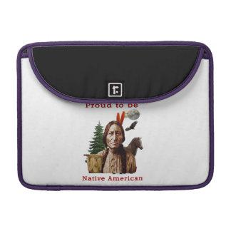 nativo americano orgulloso fundas para macbook pro