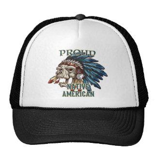 Nativo americano orgulloso gorro