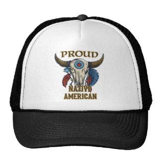 Nativo americano orgulloso gorros