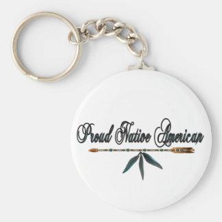 nativo americano orgulloso llavero redondo tipo pin