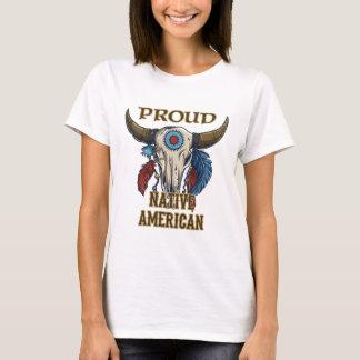 Nativo americano orgulloso playera