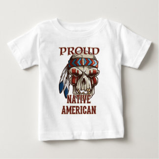 Nativo americano orgulloso playera de bebé