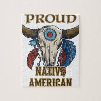 Nativo americano orgulloso rompecabeza