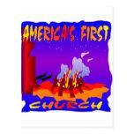 Nativo americano, primera iglesia de Américas Postales