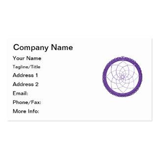 Nativo americano púrpura Dreamcatcher Tarjetas De Visita
