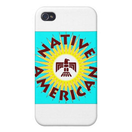 Nativo americano Sun iPhone 4 Cárcasas