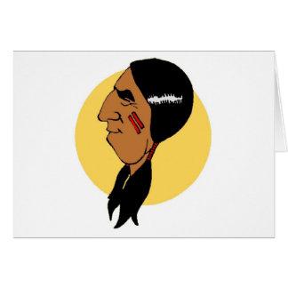 Nativo americano tarjetas