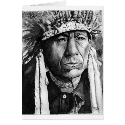 Nativo americano tarjeta de felicitación
