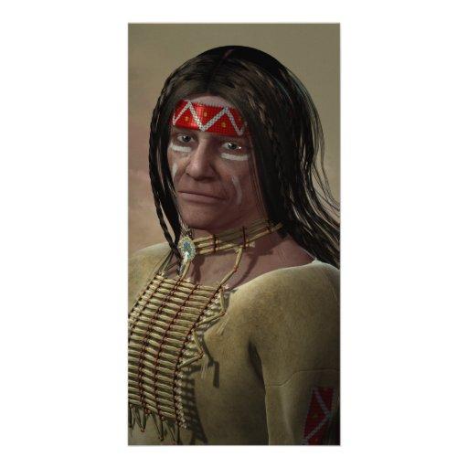 Nativo americano tarjetas fotográficas