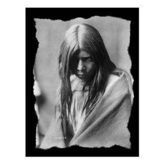 Nativo americano Zosh Clishn Apache del vintage Postales