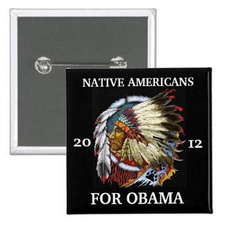 Nativos americanos para Obama 2012 Pin