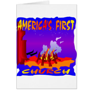 Nativos americanos, primera iglesia de Américas Tarjetón