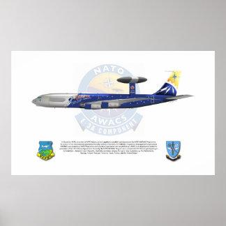 NATO E-3A 25th Anniversary Markings Poster