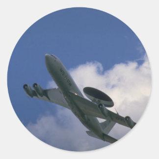 NATO E-3A Sentry AWACS aircraft Round Stickers
