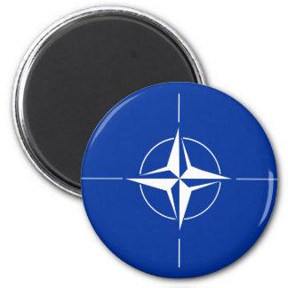 Nato Flag 2 Inch Round Magnet