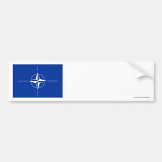 NATO Flag Car Bumper Sticker