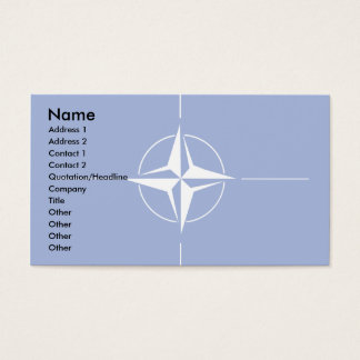 Nato Flag Business Card