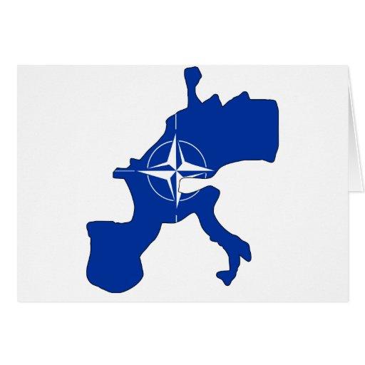 Nato flag map card