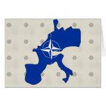 Nato Flag Map full size Card