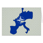 Nato Flag Map full size Greeting Card