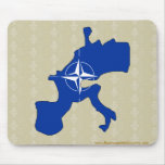 Nato Flag Map full size Mouse Pad