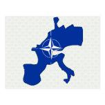 Nato Flag Map full size Postcard