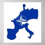 Nato Flag Map full size Poster