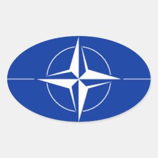 NATO Flag Oval Sticker